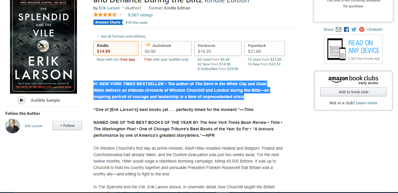 Focus on the first 2 lines when writing your Kindle product listing description.